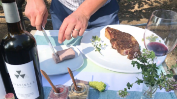 BBQ Ribeye With Cabernet Butter