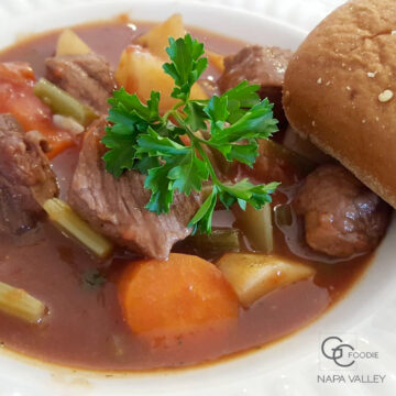 Hearty Napa Beef Stew with Red Wine